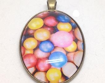 Colorful ball pendant