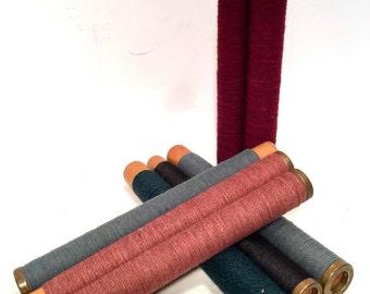 Bobbins, Spools, Spindles, Wood Thread Textile, Quills Vintage Primitive Wooden Lot of 8 Assorted Colors (X7)
