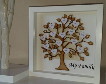 Wooden Family Tree Frame