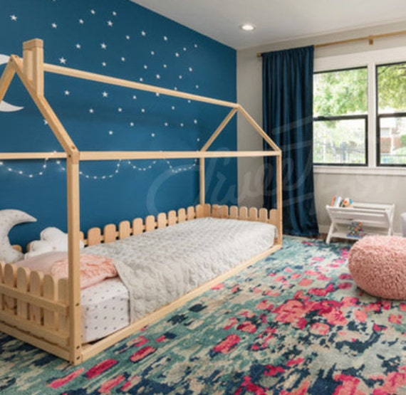 toddler bed twin children bed house bed with fence bed house montessori bed newborn bed children crib unique bed waldorf crib
