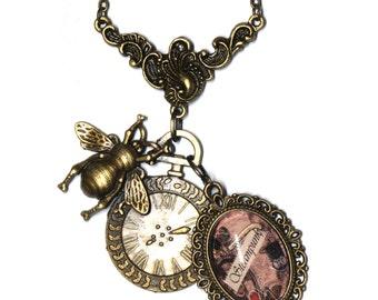 Necklace pendant necklace Steampunk Vala