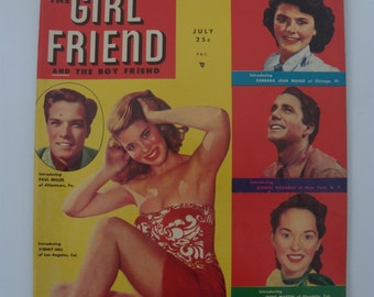 The Girl Friend and the Boy Friend Magazine, 1951 Dating Magazine
