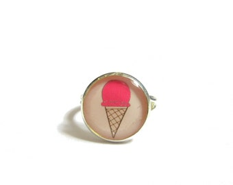 ICE CREAM RING - Kids ring - Kids Jewelry - Summer ring - Ice Cream jewelry - Cool Gifts for Kids - Pop Necklace - Gift for Girl - Food