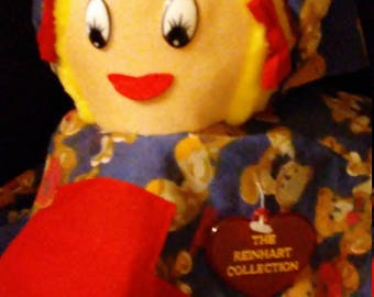 Vintage 1990's REINHART Collection Topsy Turvy Goldilocks and The 3 Bears 4 Way Plush Doll!! SUPER Cute!!!