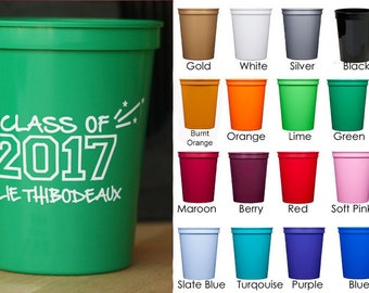 Personalized Graduation Party Stadium  Cups {16 oz}