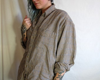 Vintage Oversized Button Up Flannel Shirt