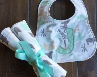 Baby Boy Gift Set, Baby Girl Gift Set, Baby Boy Bib, Baby Girl Bib, Boy Burp Cloths, Girl Burp Cloths, Gender Neutral, Monogram