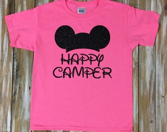 Happy Camper Fort Wilderness Camping T-shirt