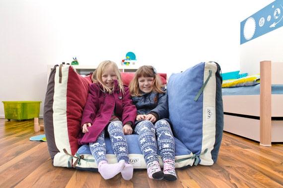 Floor pillow cover, Kids pillow, Floor cushion, Large pillow, Floor seating, Children furniture, Kids pillows, 27x27x4in, (NO beans filling)