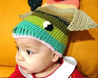 Crochet fish hat beanie newborn headdress fishing outfit kids toque funny beanie cosplay hat woolen hat photo prop baby shower MADE TO ORDER
