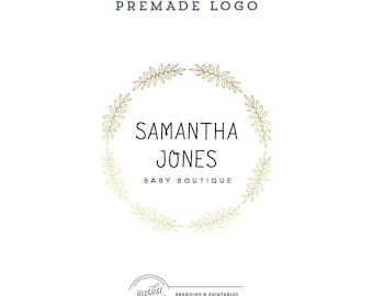 Floral Logo design Premade, Gold Logo, Custom logo design, Premade Branding, Premade Logo Design, Modern Logo Branding, Logo and watermark