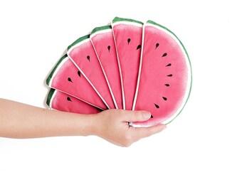 WATERMELON: Tropical zipper pouch - Watermelon zipper pouch - Summer bag - Funny zipper pouch  - Red zipper pouch