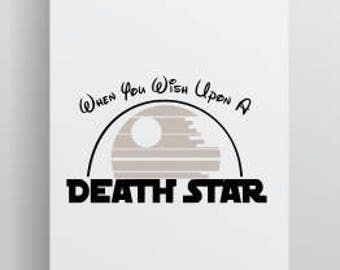 Star Wars Svg; Disney Svg; Death Star Svg; Death Star; Wish Upon A Star; Cut File; Cutting File
