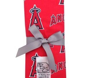 Angels 3 Piece Burp Cloth Set Red Navy