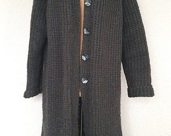 Long cardigan knitting handmade