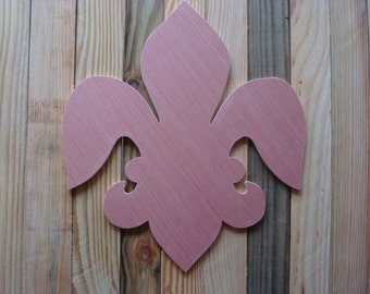 Fleur-de-lis, Wood (Unfinished); Mardi Gras Decoration; Louisiana Door Hanger
