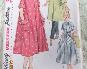 Vintage 1953 Simplicity pattern size 16 Misses and women's robe in two lengths