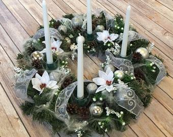 Advent wreath, large!! Christmas wreath, table wreath