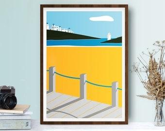 Along The Boardwalk - Illustration Print