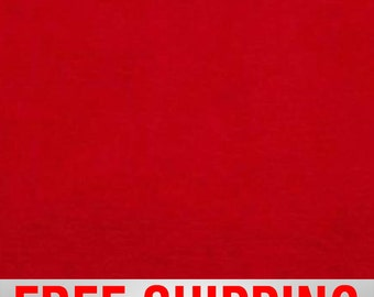 Minky Plush Fleece Fabric Red Free Shipping Style# PF-12011 By The Yard