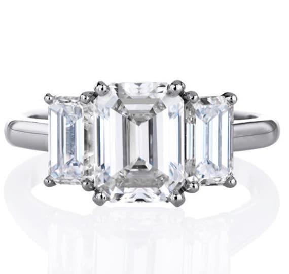 4 00 ctw emerald cut engagement wedding anniversary promise