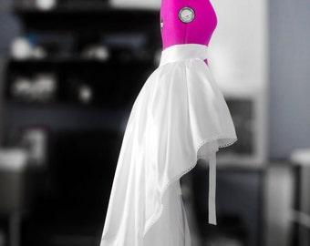 Detachable high low skirt Tulle bridal overskirt Bridal train Taffeta wedding gown White ball gown Taffeta skirt Prom skirt Full maxi skirt