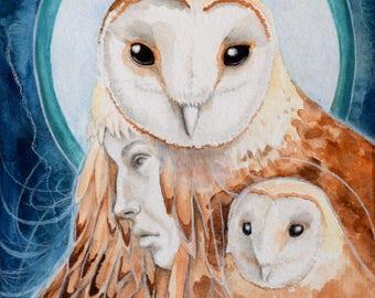 "Orginal Watercolor Painting ""Witness"" 9x12"