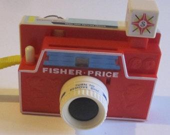 Fisher Price Camera Print, Camera Vintage Fisher Price, Art Photography Toy Fisher Price, camera nursery child bedroom print.