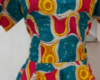 Fit and Flare Ankara Blouse