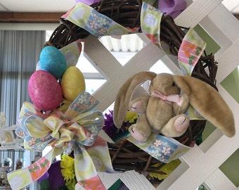 Easter Bunny Vine Wreath