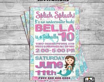 O'fishal Underwater Birthday Bash Invitations!
