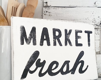 Farmhouse Decor | Vintage Market and Grocery | Casual Farmhouse | Fixer Upper | Cottage Home | White Wash | Market Fresh | Handmade
