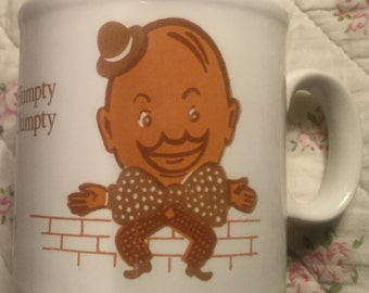Staffordshire Pottery Nursery Rhyme Cup;  Humpty Dumpty Design