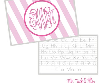 Monogram Placemat - Personalized Placemat - Children's Placemat - Child Placemat - Laminated Placemat