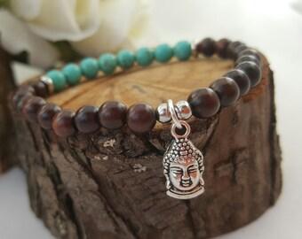 Mala bracelet / Sandalwood bracelet/ gemstone bracelet / beaded bracelet/ charm bracelet/ meditation bracelet/handmade/ wrist mala/ boho