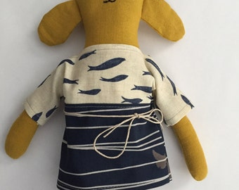 "10"" Puppy doll, handmade with all natural materials. Waldorf inspired dolls for creative play."