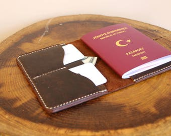 Passport Case, Personalized Leather Passport Holder, Passport Keeper, Leather Passport Holder, Travel Wallet
