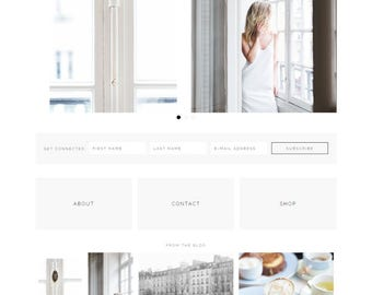 Plume - Feminine WordPress Theme - Genesis Child Theme - SEO - Responsive - Static Front Page - Slider - Ecommerce - Portfolio - Blog