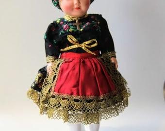 Western German Celluloid  Souvenir Doll, Trachtenpuppen, Shwartzwald?, Black Forest