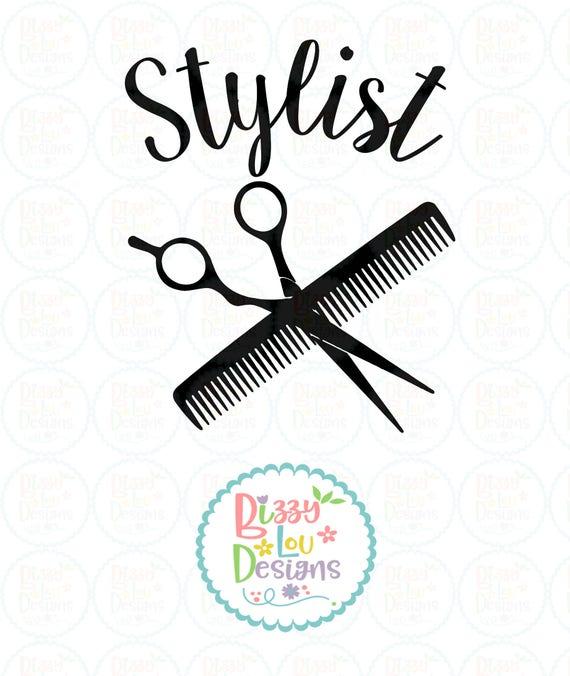 Stylist Svg Dxf Eps Cut File Hairdresser Svg Beauty Svg