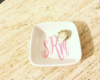 Monogrammed Ring Dish / Personalized Ring Dish
