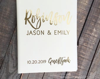 photo booth guest book guest book wedding Custom Guest Book Real Gold foil Guestbook, Wedding, Wedding gold Decor, silver copper foil, guest