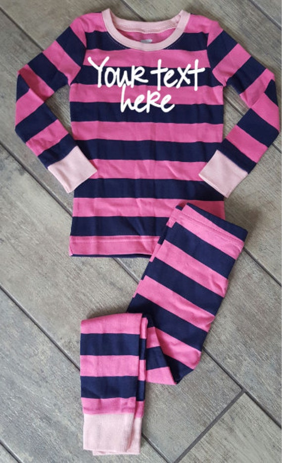 Customized Girl Toddler Pajama Set - ONE OF A Kind - child/baby accessories