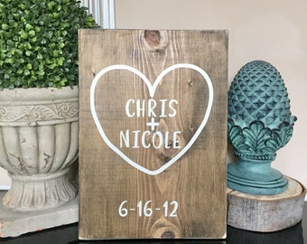 Personalized Last name wood sign Custom Sign Wedding Anniversary Gift, name sign, Custom wedding gift, Housewarming gift, Established sign