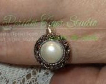 White Ring/W/Twisted Coated Copper (Silver Colored) -Wire Band -  (Customize-able - Commission-able Sizes)