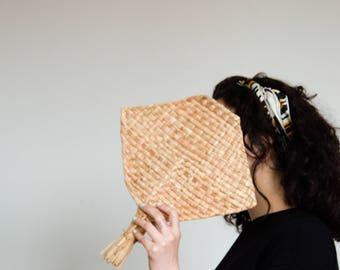 Straw Hand Fan, Wall decor with tassel