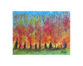 Fall Trees  - original artwork