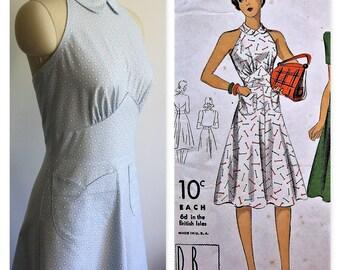 1940's Vintage Reproductions Dress, Midriff Waist