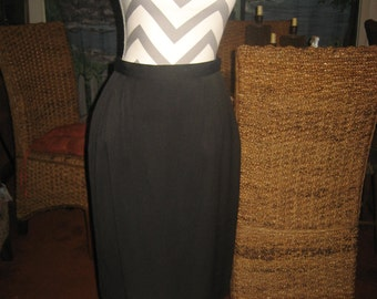 Liz Claiborne Black Wool Skirt