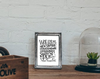 Dumbledore Quote - Words in my not-so-humble opinion are our most inexhaustible source of Magic - Harry Potter Printable